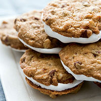 Rocky Road Cookie Sandwiches