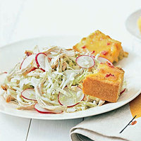 Chicken Slaw with Pimiento Cheese Cornbread