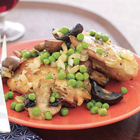 Chicken with Mushrooms and Peas
