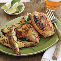 Honey-Mustard Chicken with Potato Wedges