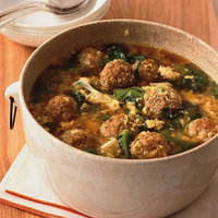 Italian Egg Drop Soup with Meatballs