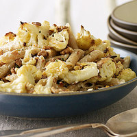 Roasted Cauliflower Penne with Rosemary Cream
