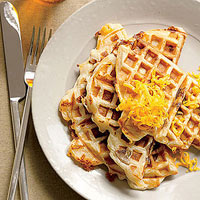 Grilled Cheese-and-Chicken-Sausage Waffles