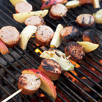 Sausage, Fennel and Apple Skewers
