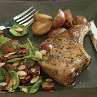 Pan-Fried Chops with Grape Salad
