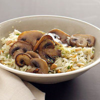 Lemon Orzo with Mushrooms and Pine Nuts