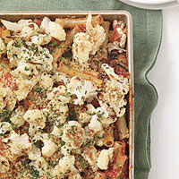 Cauliflower-Feta Pasta Bake