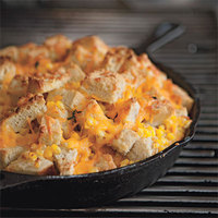 Grilled Skillet Corn Bread Pudding
