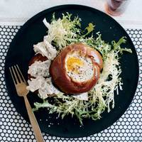 Tuna Salad Specials with Egg-in-the-Hole Brioche