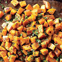 Butternut Squash with Ginger and Cilantro