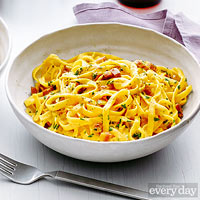 Carbonara with Saffron