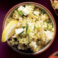 Millet Pilaf with Almonds and Feta