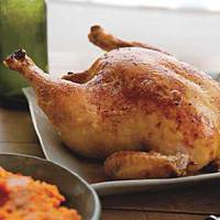 Roast Chicken with Root Vegetable Puree