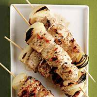 Grilled Pork Kebabs with Cucumber Tzatziki