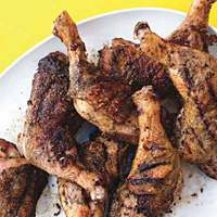 Fennel-and-Herb-Rubbed Grilled Chicken Legs