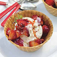 Grilled Fruit Sundaes