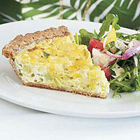 Cauliflower, Sweet Onion and Leek Quiche
