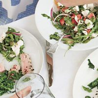 Tomato, Mozzarella and Arugula Salad