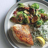 Skillet Chicken and Brussels Sprouts