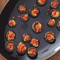 Fondue-Stuffed Mushrooms