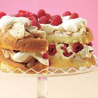 Crispy Meringue Butter Cake with Berry-Lemon Cream