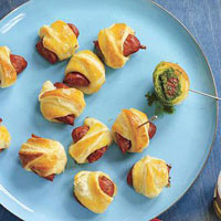Spicy Pigs in Blankets with Chimichurri Dip