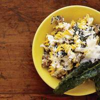 Fusilli with Crispy Kale and Ricotta