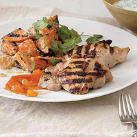 Chicken Tikka with Indian- Style Sweet Potato Salad