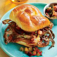 Soft-Shell Crab Sandwiches with Pluot Relish