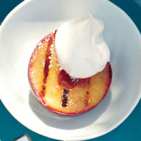 Grilled Stone Fruit with Whipped Cream