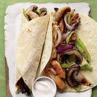 Chicken-and-Portobello Fajitas
