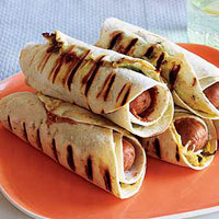 Pigs in Ponchos (Tortilla-Wrapped Franks and Beans)