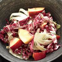 Radicchio-Fennel Slaw with Nectarines