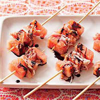 Watermelon-and-Prosciutto Skewers