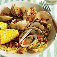 Paella-Style Quick Clam Bake