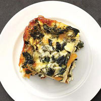 Butternut Squash-and-Spinach Strata