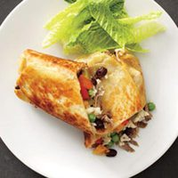 Roast Pork-and-Veggie Burritos