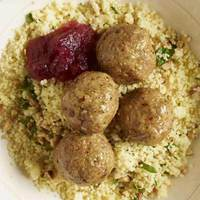 Turkey Sausage Meatballs with Cran-Apple Sauce