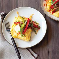 Pepper & Onion Polenta
