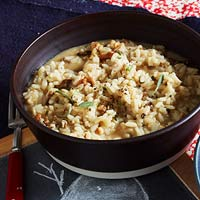 Tuscan Risotto with Walnuts & Mushrooms