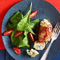 Prosciutto-Wrapped Chicken Stuffed with Herb Ricotta