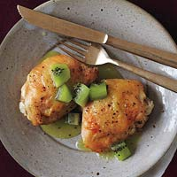 Roast Chicken with Mean Green Sauce