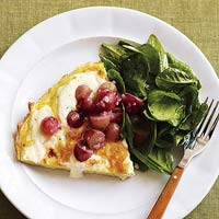 Frittata with Grape Compote
