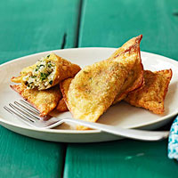 Fried Bok Choy Ravioli