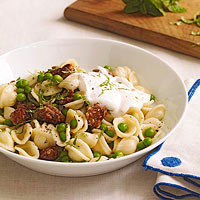 Creamy Orecchiette with Sausage, Peas & Mint