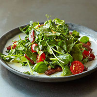 BLT Pea Shoot Stir-Fry