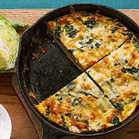 Greens & Gruyere Strata Frittata