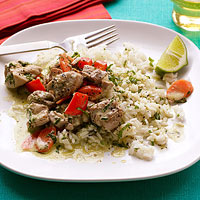 Thai Chicken with Minted Rice