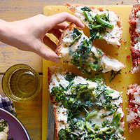 Broccoli Rabe Pizza Bread