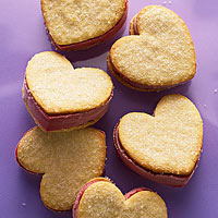 I-Heart-Raspberry Sorbet Sandwiches